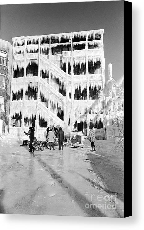 Ice Canvas Print featuring the photograph Icehouse by William Stetz