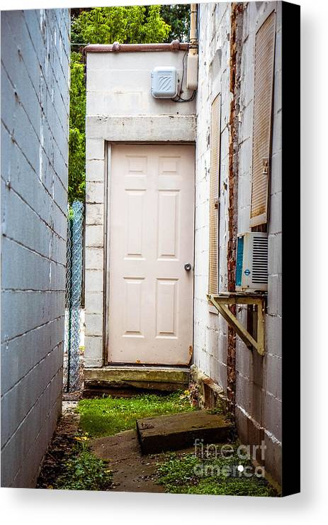 Entrance Canvas Print featuring the photograph Interesting Entrance by Grace Grogan