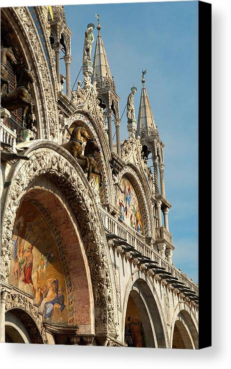 Architecture Canvas Print featuring the photograph Italy, Venice Saint Mark's Basilica by David Noyes