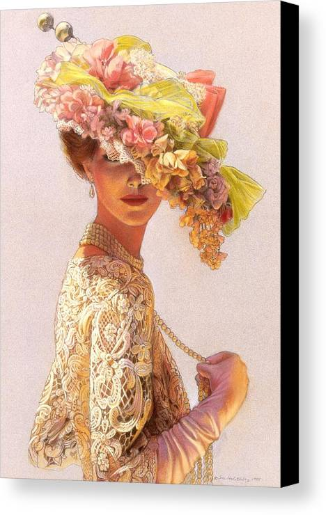 Portrait Canvas Print featuring the painting Lady Victoria Victorian Elegance by Sue Halstenberg