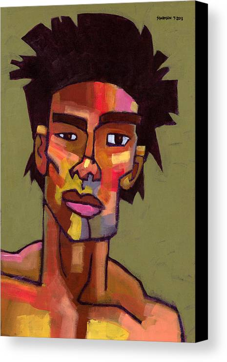 Portrait Canvas Print featuring the painting Likes To Party by Douglas Simonson