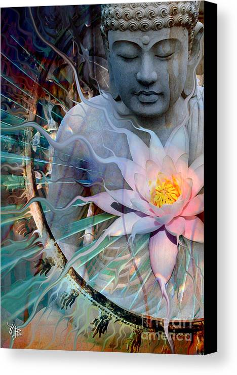 Buddha Canvas Print featuring the painting Living Radiance by Christopher Beikmann