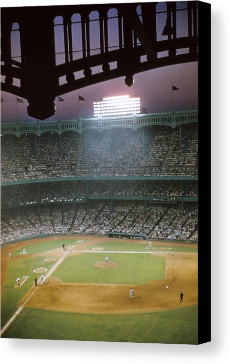 Marvin Newman Canvas Print featuring the photograph Brillant Yankee Stadium by Retro Images Archive