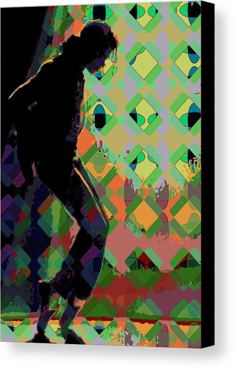 Michael Jackson Canvas Print featuring the digital art Michael Jackson by Scott Davis