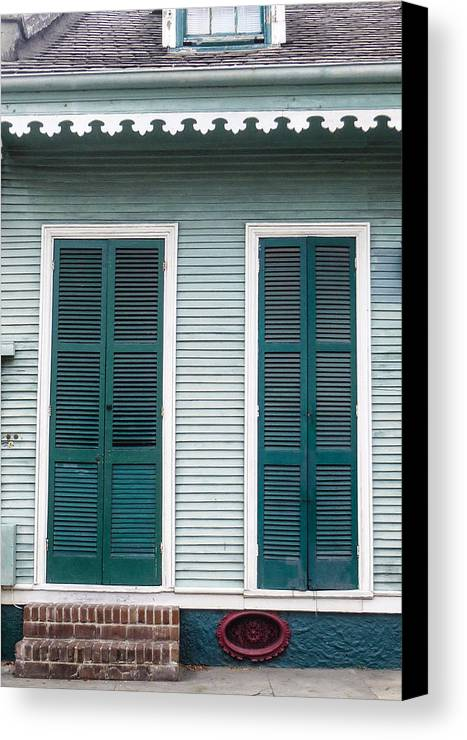 Blue Canvas Print featuring the photograph New Orleans by Jeanne Brophy