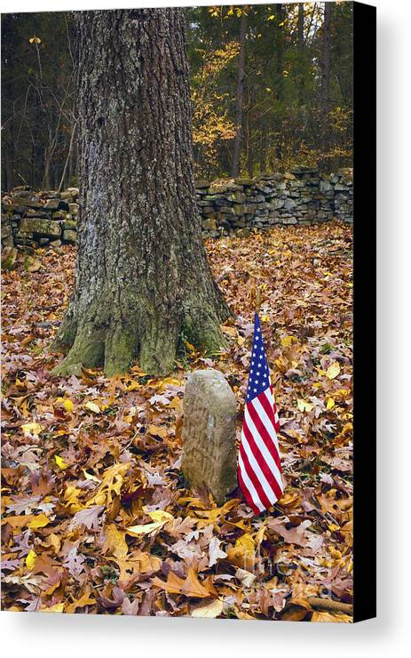Cemetery Canvas Print featuring the photograph Not Forgotten by Paul W Faust - Impressions of Light