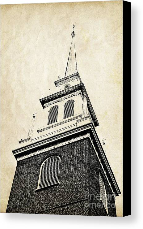 House Canvas Print featuring the photograph Old North Church In Boston by Elena Elisseeva
