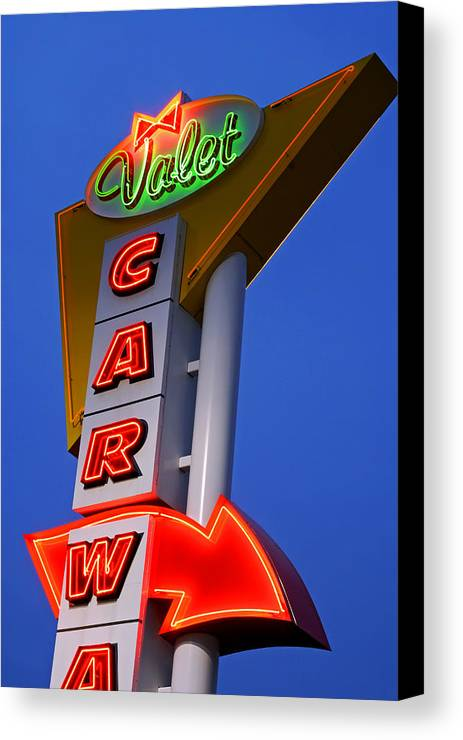 Car Wash Canvas Print featuring the photograph Retro Car Wash Sign by Norman Pogson