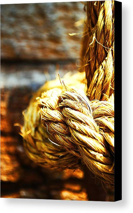 Becky Furgason Canvas Print featuring the photograph #rope by Becky Furgason