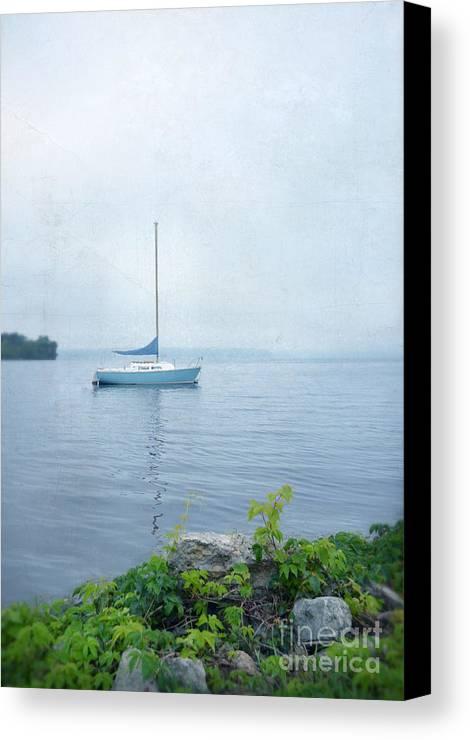 Saliboat Canvas Print featuring the photograph Sailboat by Jill Battaglia
