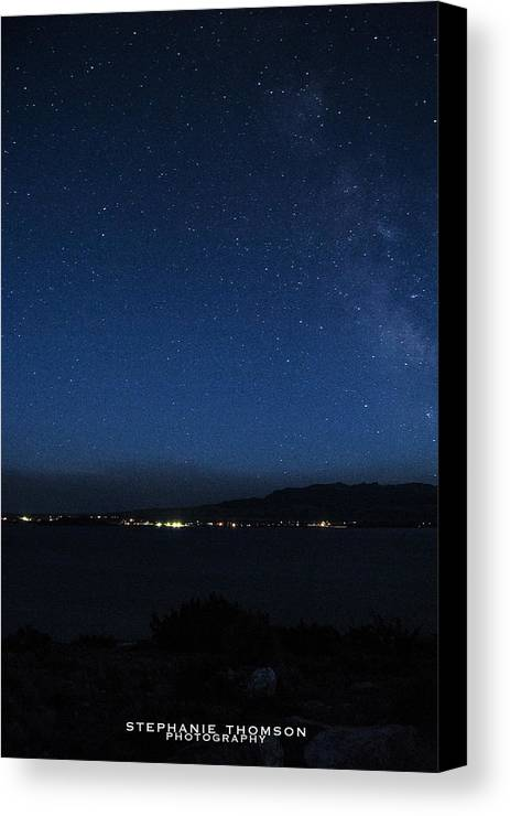 Stars Canvas Print featuring the photograph Starry Night by Stephanie Thomson