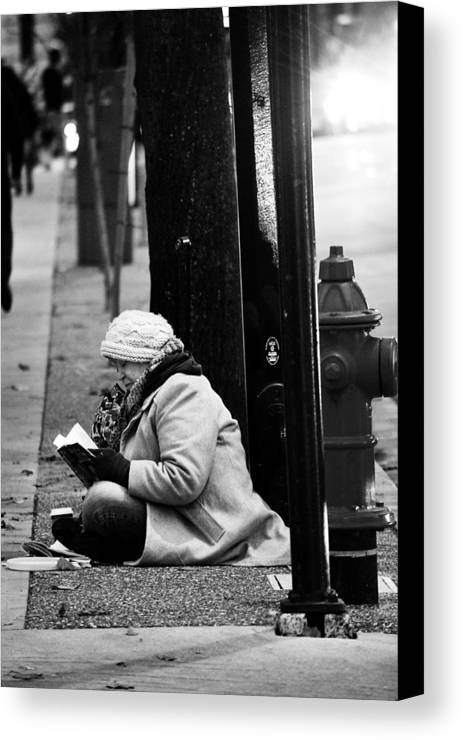 Street Photography Canvas Print featuring the photograph Street Stories by The Artist Project