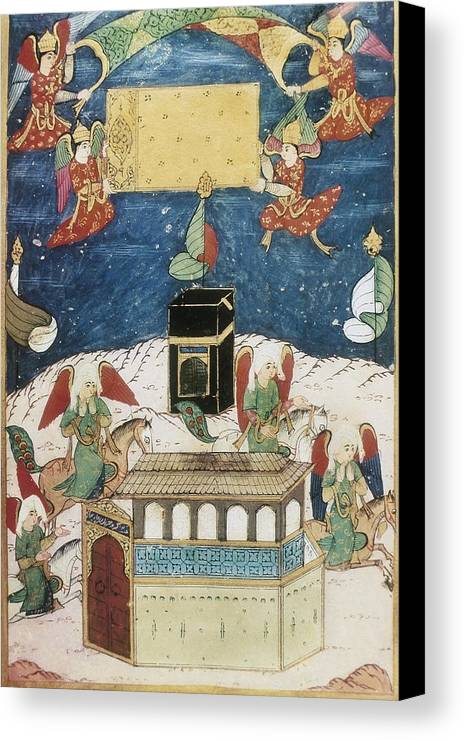 Vertical Canvas Print featuring the photograph Sufti Abdullah 16th Century. Angels by Everett
