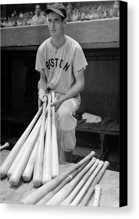 Ted Canvas Print featuring the photograph Ted Williams by Gianfranco Weiss