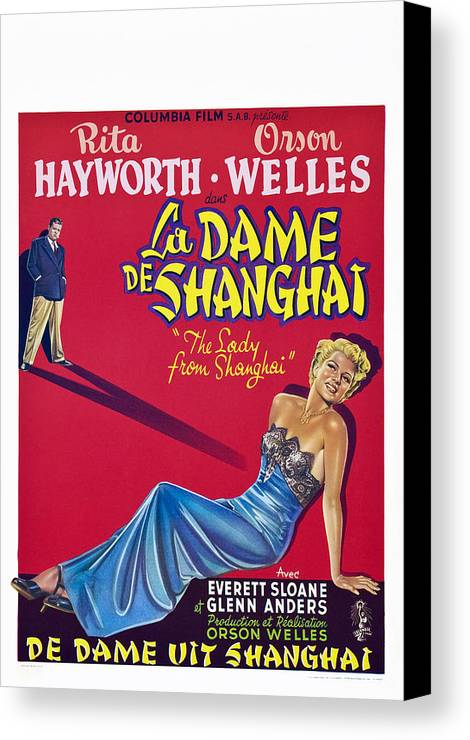 1940s Movies Canvas Print featuring the photograph The Lady From Shanghai, Us Poster Art by Everett