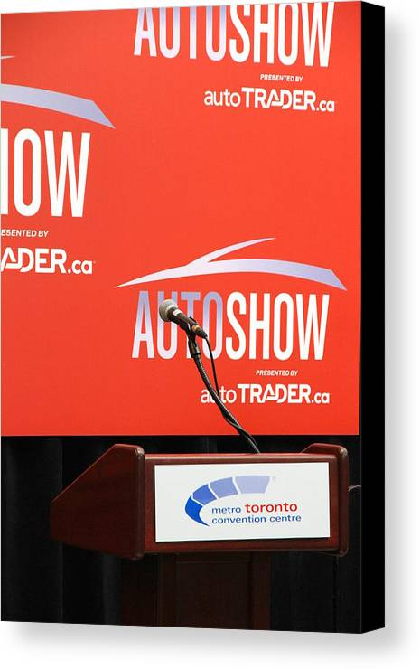 Press Canvas Print featuring the photograph Toronto Autoshow by Valentino Visentini