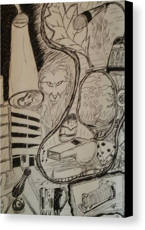 Whistle Canvas Print featuring the drawing Weekend by Thomasina Durkay