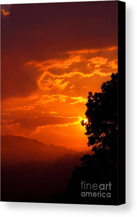 Usa Canvas Print featuring the photograph West Virginia Late Spring Sunrise by Thomas R Fletcher