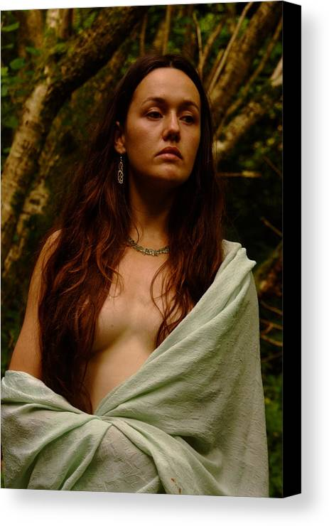 Nude Canvas Print featuring the photograph Woodland Portrait by Peter Jenkins