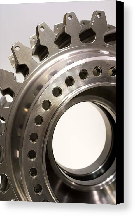 Aerospace Canvas Print featuring the photograph Aircraft Engine Component by Mark Williamson