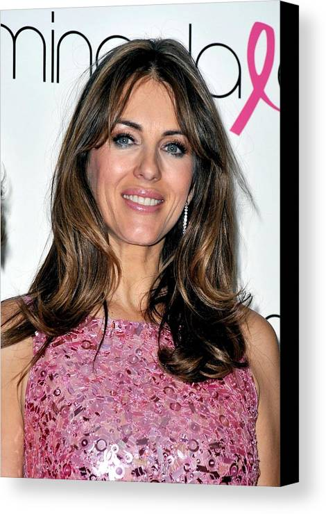 Elizabeth Hurley Canvas Print featuring the photograph Elizabeth Hurley At A Public Appearance by Everett