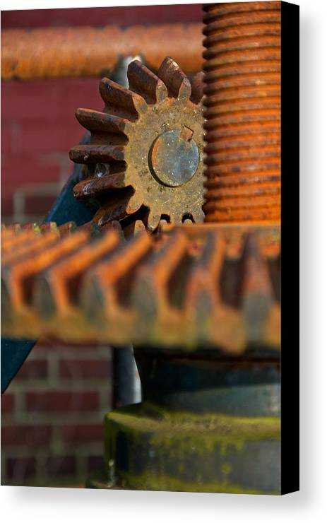 Burlington Canvas Print featuring the photograph Gear by Mike Horvath