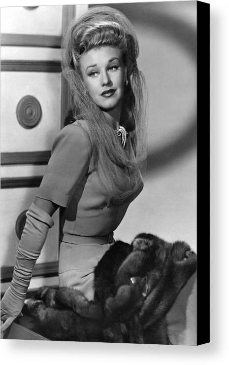 11x14lg Canvas Print featuring the photograph Ginger Rogers, Ca. 1943 by Everett