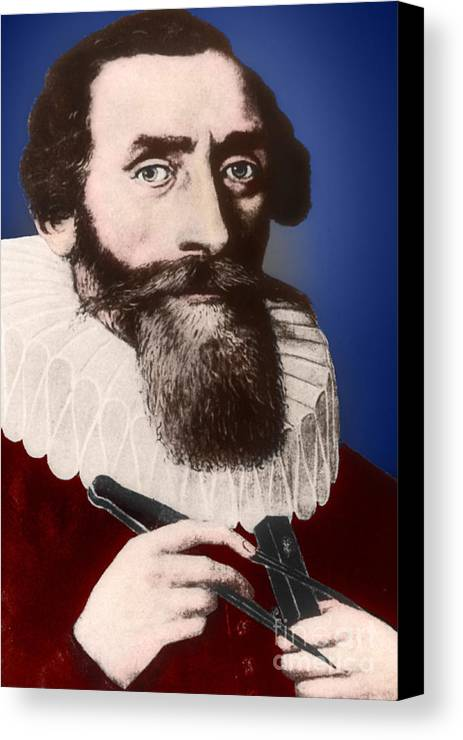 Science Canvas Print featuring the photograph Johannes Kepler, German Astronomer by Science Source
