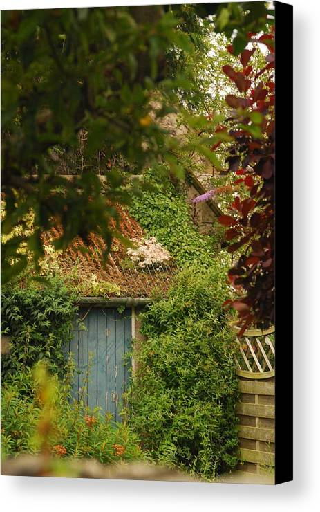 Cartmel Canvas Print featuring the photograph The Shed by Peter Jenkins