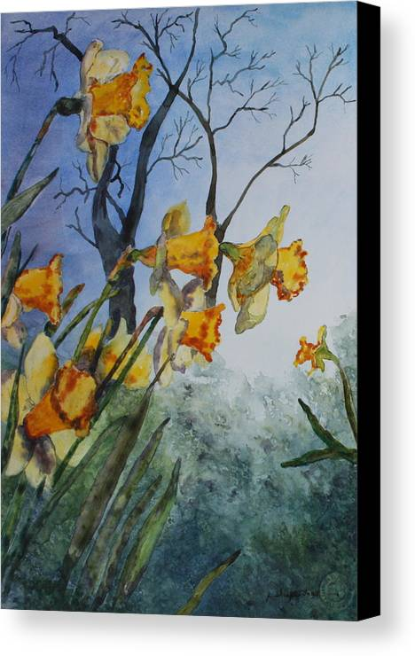 Floral Canvas Print featuring the painting Welcome Springtime by Patsy Sharpe