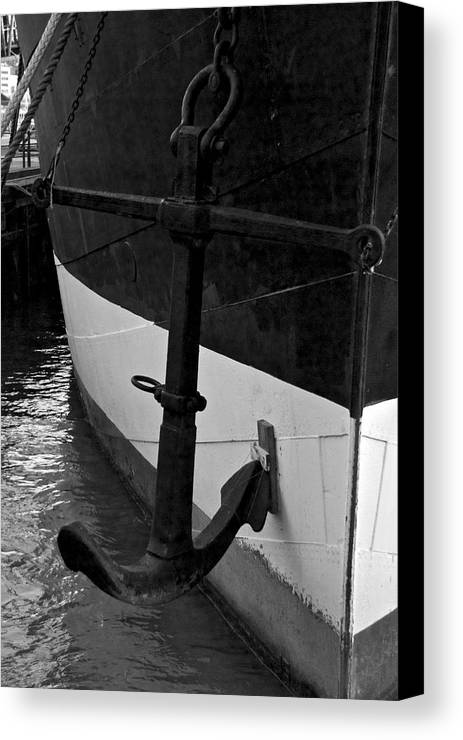 New York City Canvas Print featuring the photograph Anchor by Mike Horvath