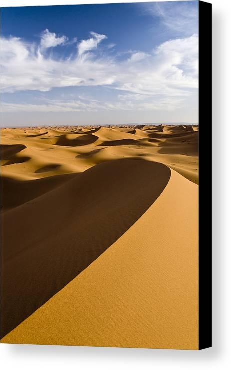 Vertical Canvas Print featuring the photograph Erg Chigaga, Sahara Desert, Morocco, Africa by Ben Pipe Photography