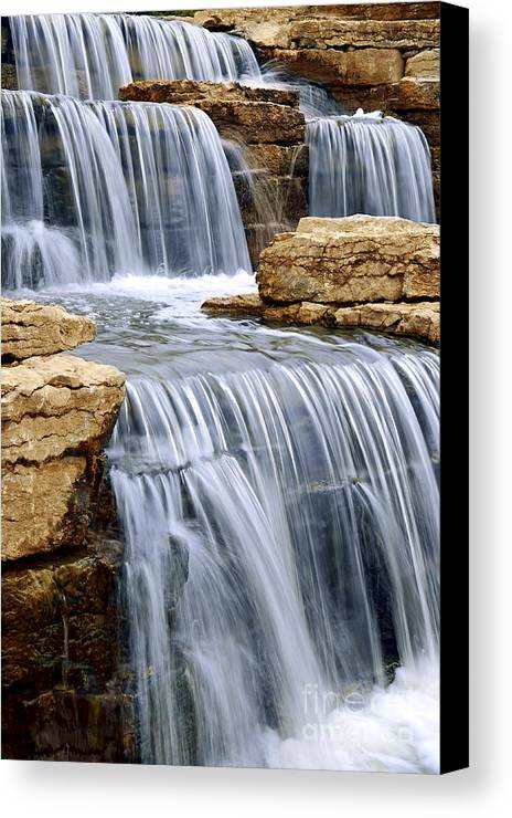 Waterfall Canvas Print featuring the photograph Waterfall by Elena Elisseeva