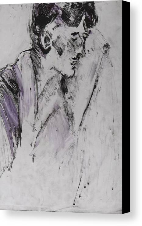 Fine Art Canvas Print featuring the drawing Untitled by Iris Gill