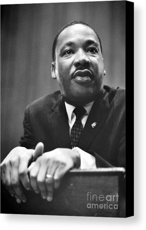 1964 Canvas Print featuring the photograph Martin Luther King, Jr by Granger