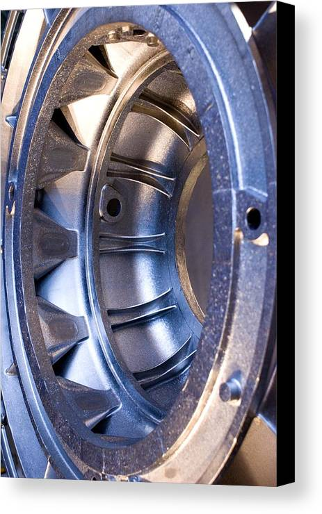 Aerospace Canvas Print featuring the photograph Aluminium Aircraft Component by Mark Williamson