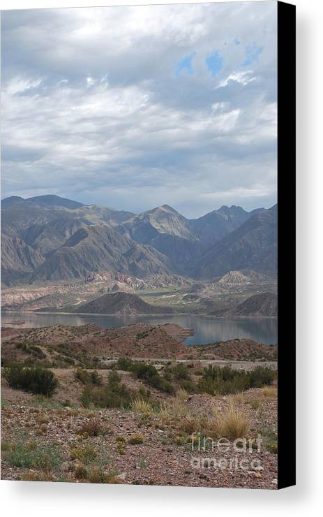 Andes Canvas Print featuring the photograph Andes by Jen Bodendorfer