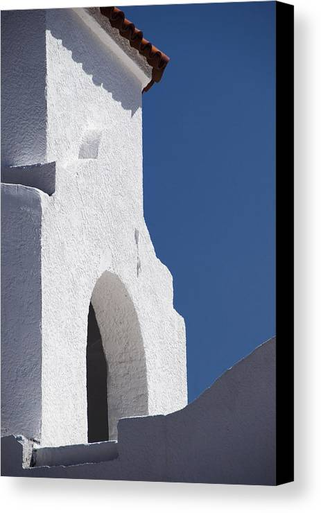 Architecture Canvas Print featuring the photograph Church Bell Tower Chacras De Coria by Philippe Widling