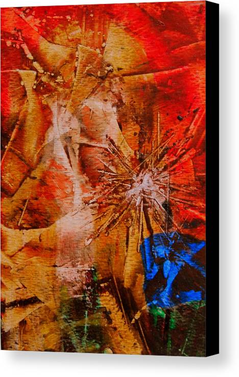 Dandelion Canvas Print featuring the painting Dandelion by Tammy Cantrell