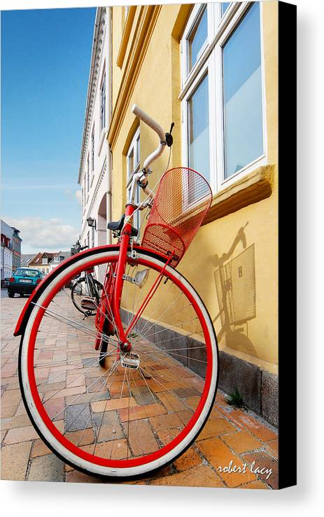 Bicycle Canvas Print featuring the photograph Danish Bike by Robert Lacy
