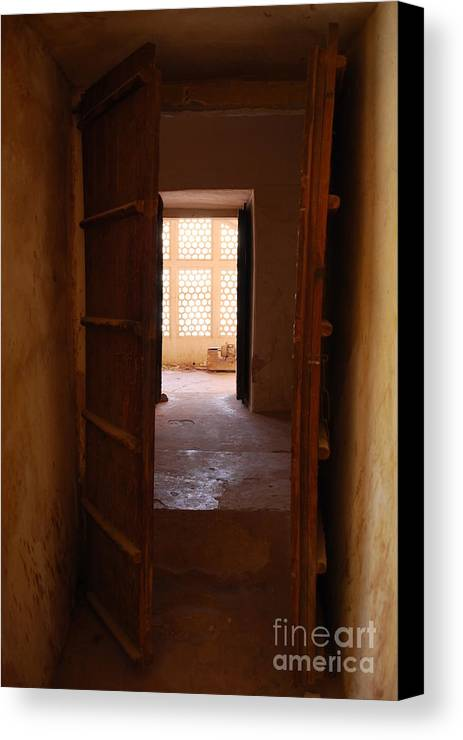India Canvas Print featuring the photograph Doorway by Jen Bodendorfer