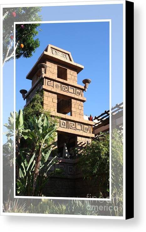 Downtown Disney Canvas Print featuring the pyrography Downtown Disney by Tommy Anderson