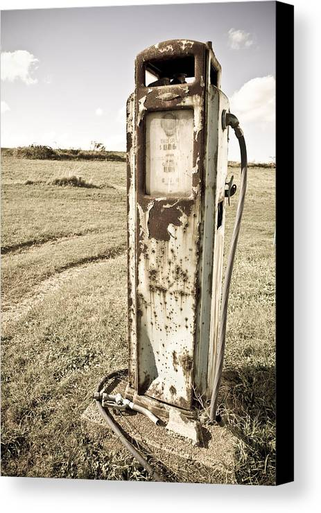 Landscape Canvas Print featuring the photograph Gas Pump #5 by Pittsburgh Photo Company