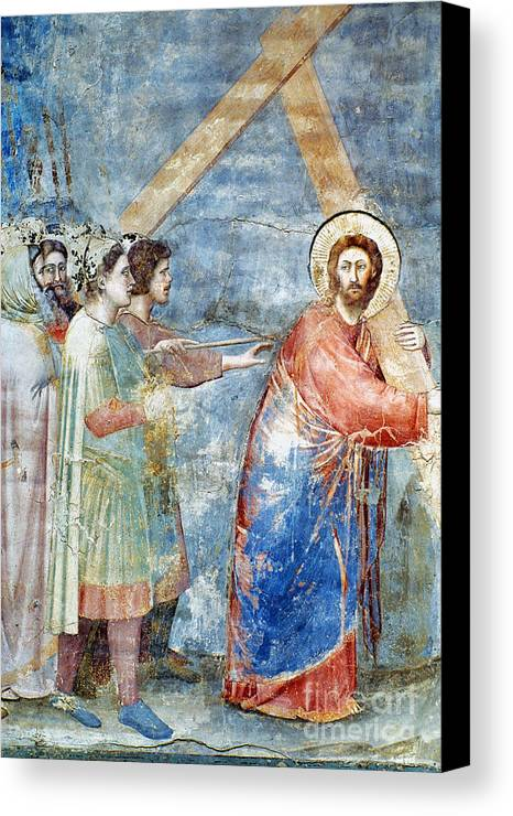 1304 Canvas Print featuring the photograph Giotto: Road To Calvary by Granger