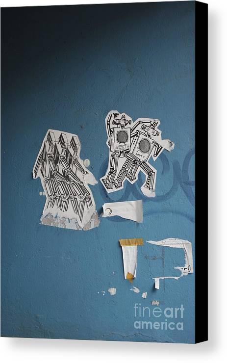 Robots Canvas Print featuring the photograph International Robots by Jen Bodendorfer