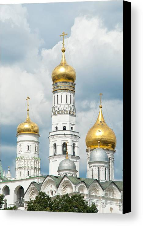 Ivan Canvas Print featuring the photograph Ivan The Great Tower In Moscow Kremlin by Boris Suntsov