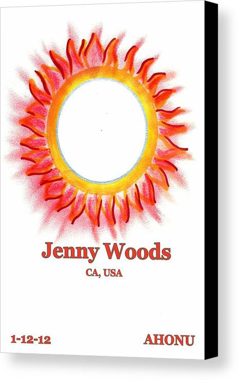 Ahonu Canvas Print featuring the painting Jenny Woods by Ahonu