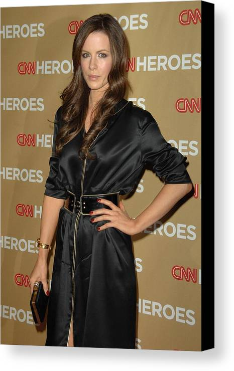 Cnn Heroes All-star Tribute Canvas Print featuring the photograph Kate Beckinsale Wearing An Yves Saint by Everett