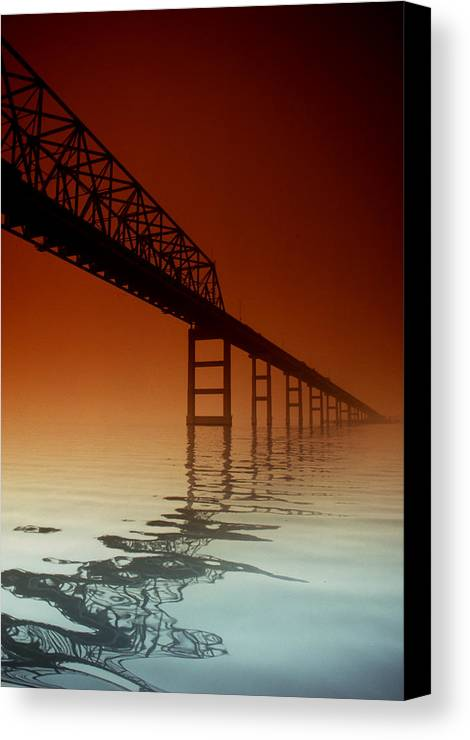 Key Bridge Canvas Print featuring the photograph Key Bridge by Skip Willits