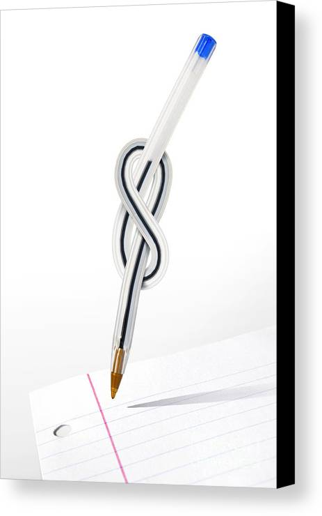 Abstract Canvas Print featuring the photograph Knot Pen by Carlos Caetano